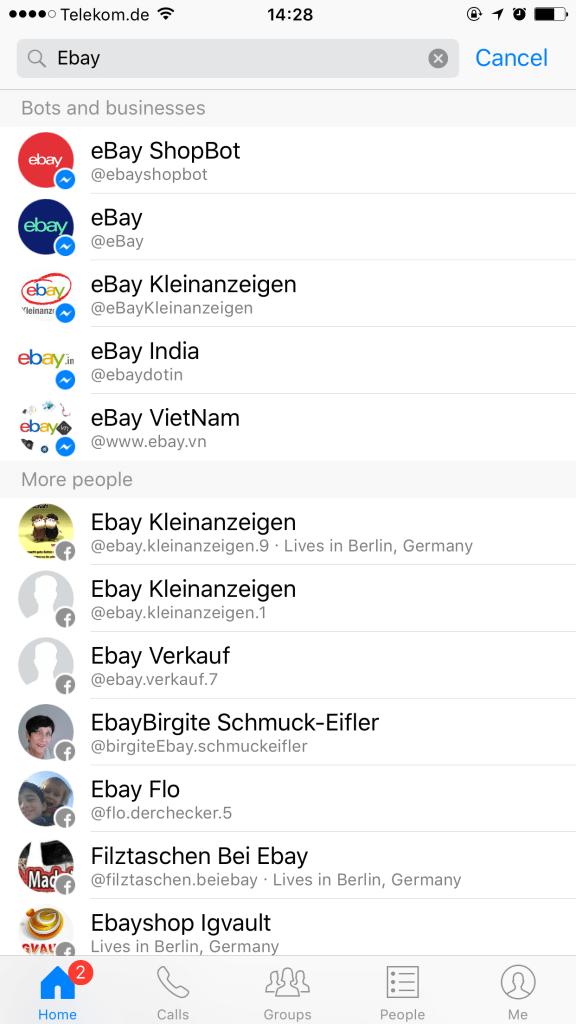 facebook-messenger-bot-kommunikation-messenger-suche