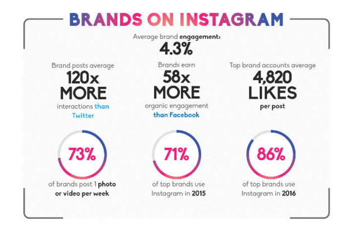 Instagram Infografik mit Instagram Statistiken