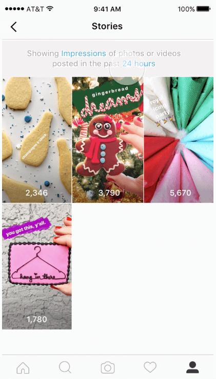 Instagram Stories Statistiken - Reichweite und Impressions