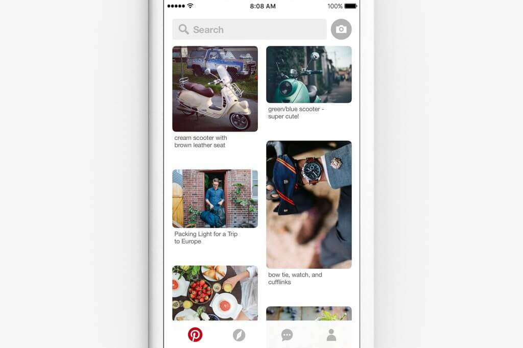 Pinterest Lense - Visuelle Suche Pinterest Mobile