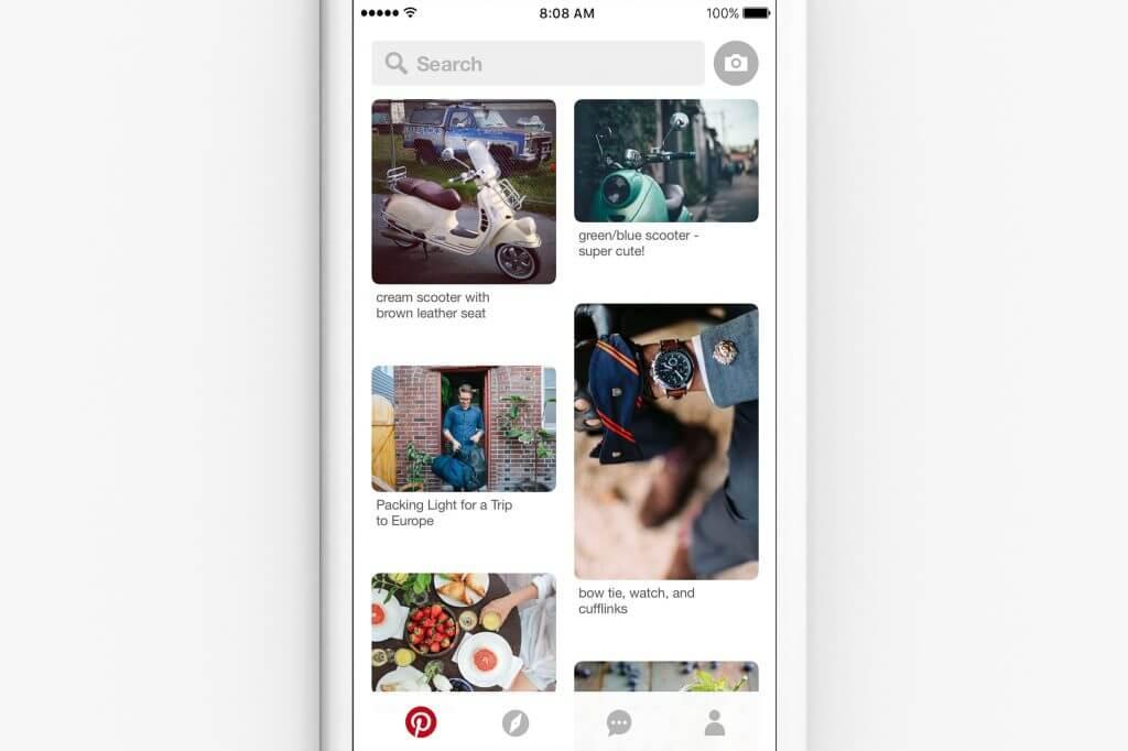 Pinterest Lense - Visuelle Suche Pinterest Mobile