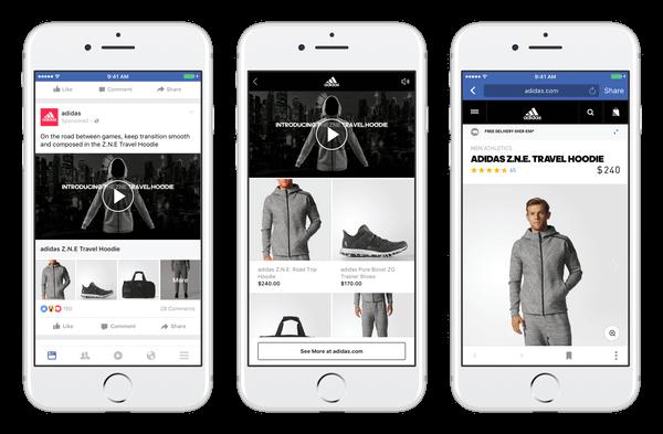 Facebook Collections - Beispiel Adidas