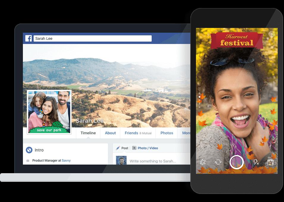 Facebook Frames für Facebook Profilbilder