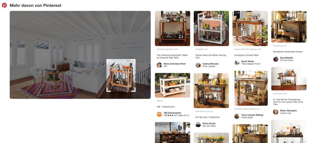 Pinterest Suche für Webseiten - Verwandte Inhalte