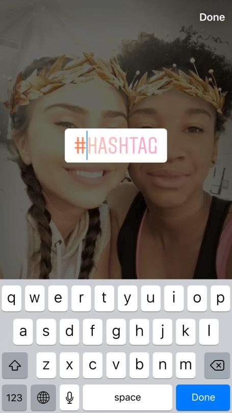 Sticker für instagram story