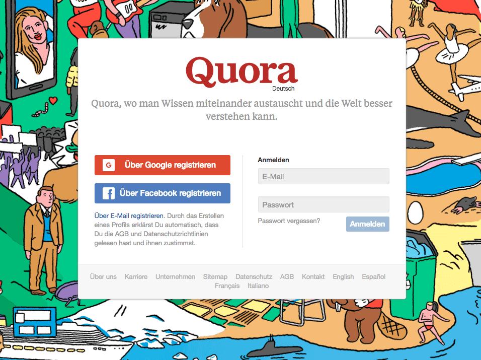 Quora auf Deutsch - Content Plattform und Q and A Plattform startet in Deutschland