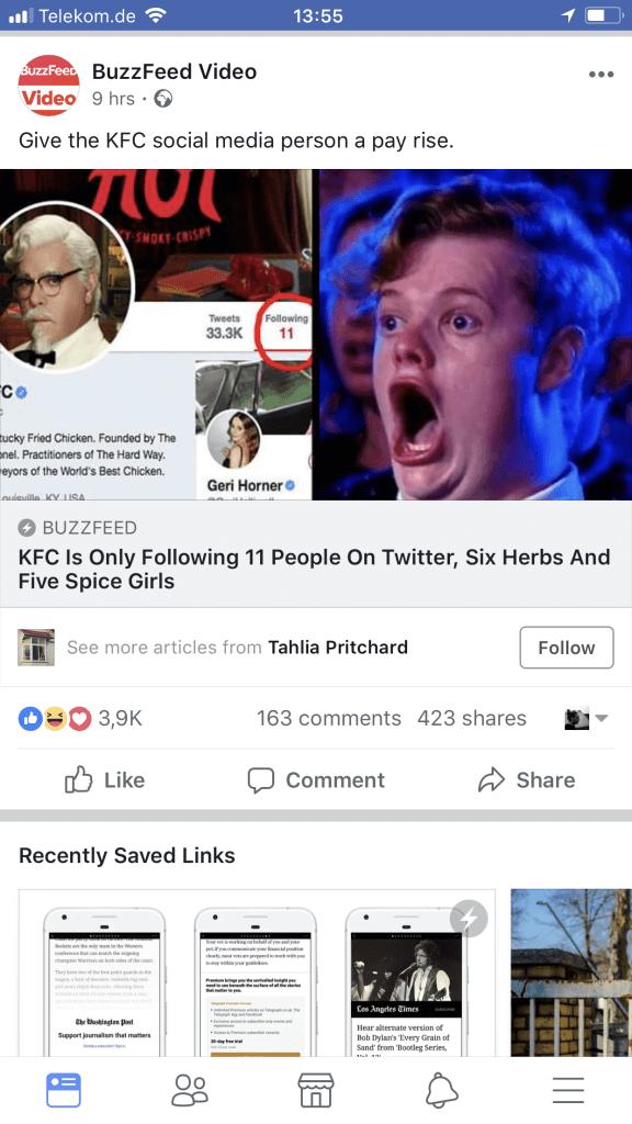 Facebook Link Posts - prominetere Darstellung von Instant Articles