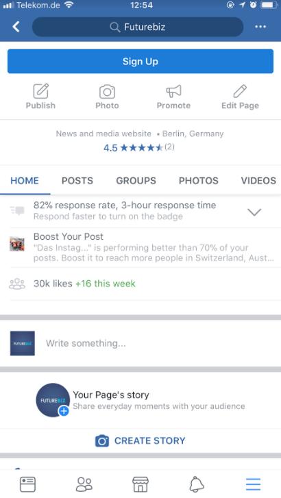 Facebook Stories als Unternehmen veröffentlichen