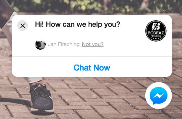 Facebook Messenger Bot Webseitenintegration - Plugin