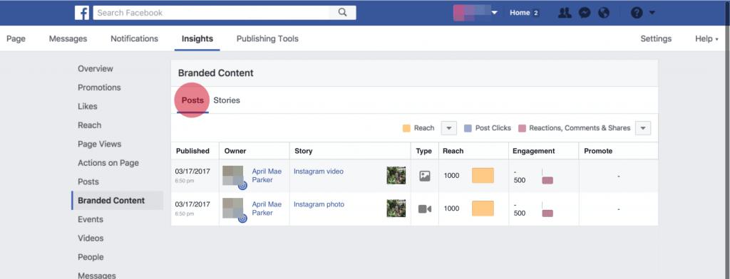 Instagram Branded Content - Statistiken für Influencer Inhalte