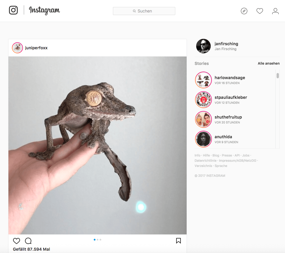Instagram Stories Desktop Version