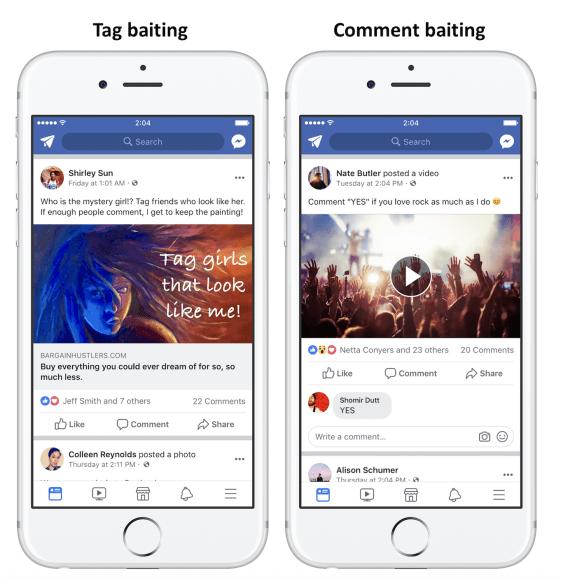 Facebook News Feed Algorithmus - Weniger Reichweite für Engagement Baiting