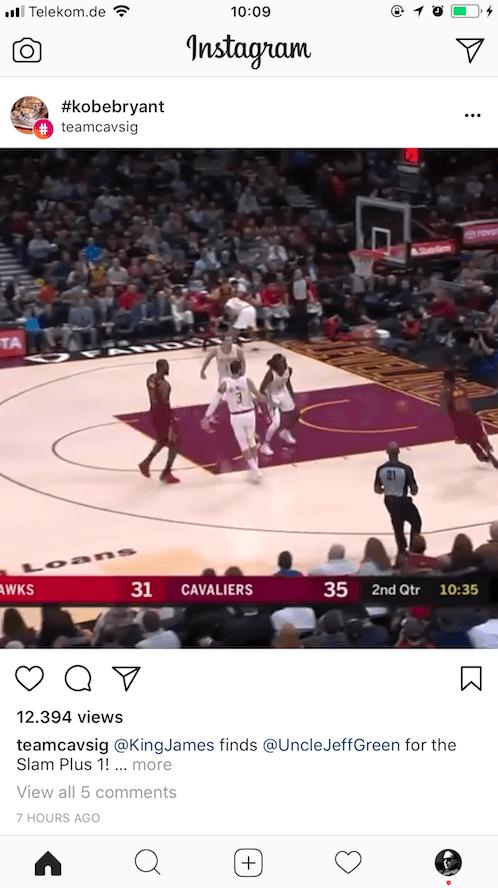 Instagram Hashtag Seite - Inhalte Feed
