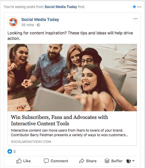 Facebook News Feed Einstellungen Seiten