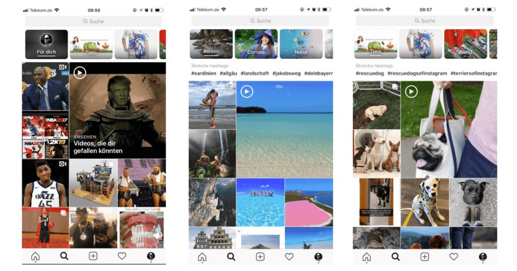 Instagram-explore-themkanäle