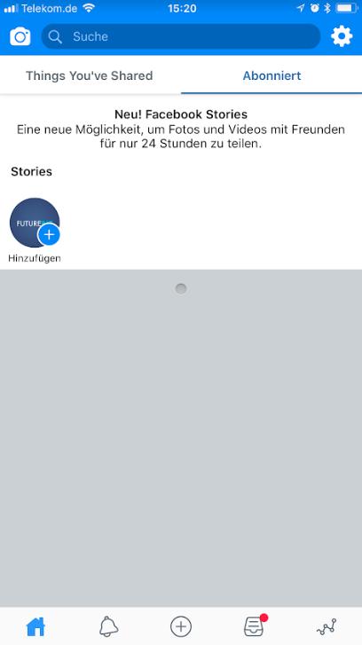 Facebook Creator App Stories veröffentlichen