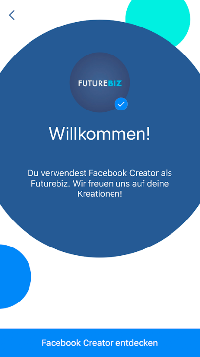 Facebook Stories über Facebook Creator App teilen