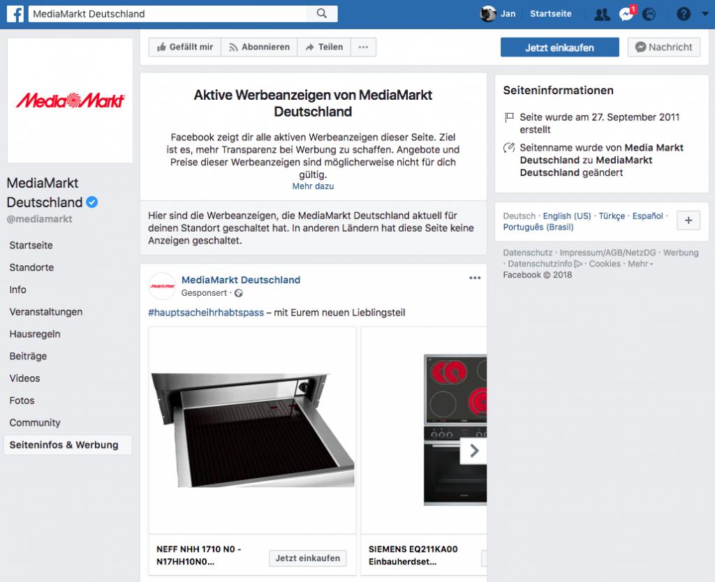 Facebook-Transparenz-anzeigen-aktivitäten-wettbewerber