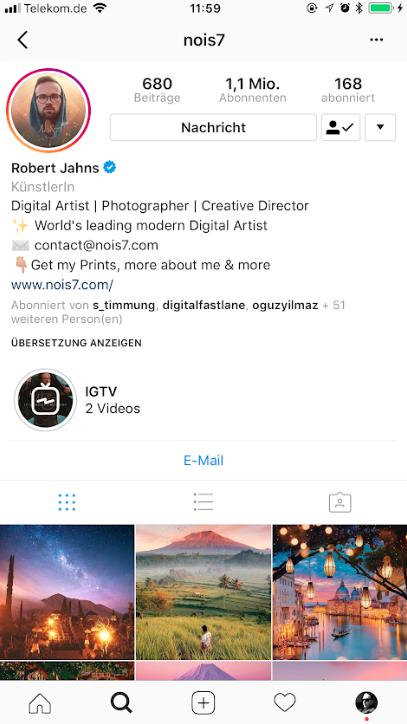 IGTV-Instagram-Profil