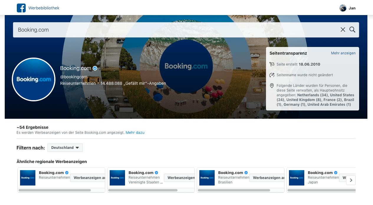 Facebook-Werbebibliothek-Anzeigen-Wettbewerber