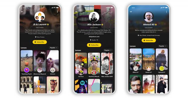 Snapchat-Lense-Creator-Profile
