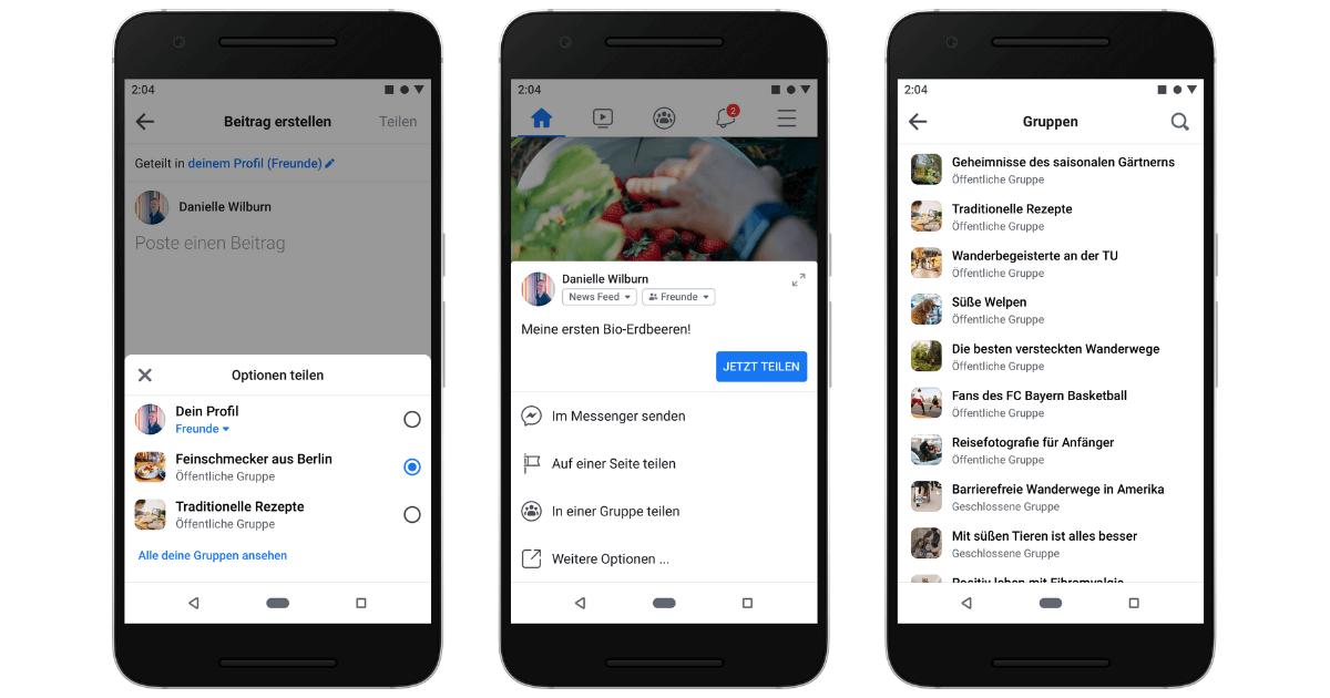 Facebook Gruppen - Kern von Facebook