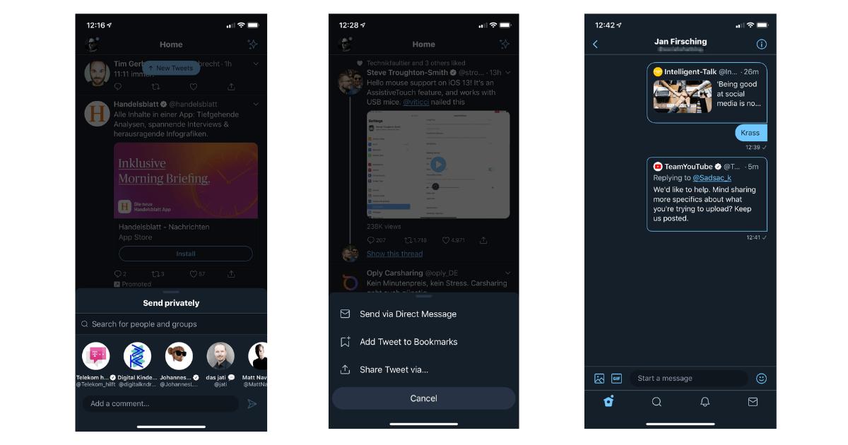 Twitter Direktnachrichten Update