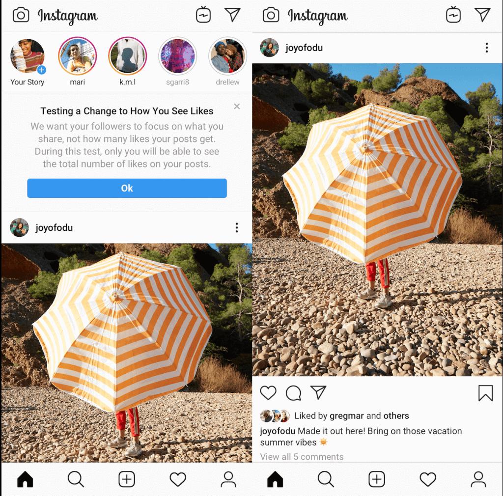 sieht man bei instagram screenshots