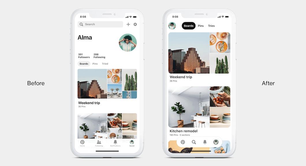 Pinterest-Design-Änderungen-Vorher-nachher