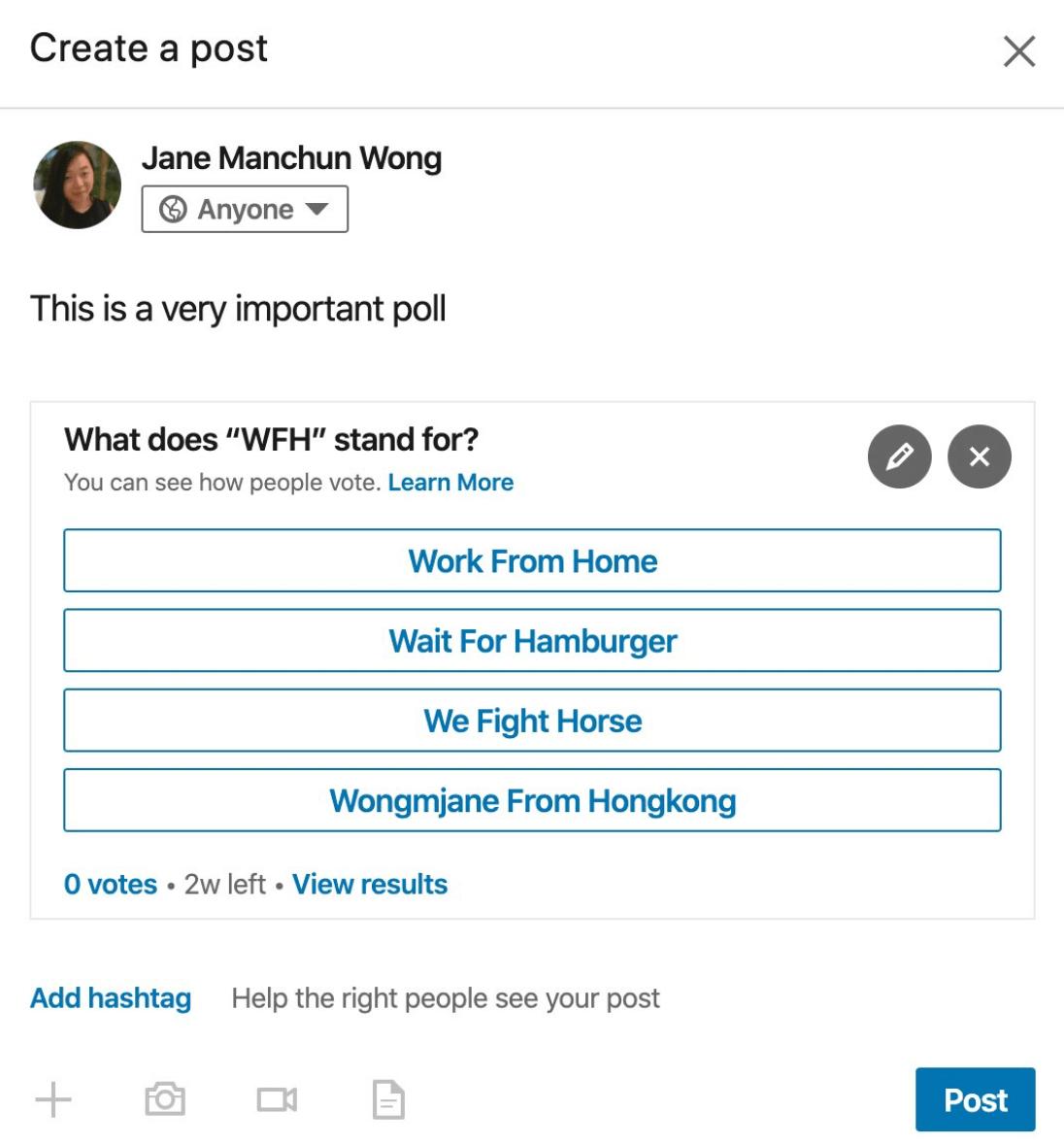LinkedIn Umfragen
